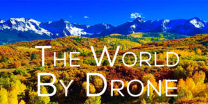 aerial drone video footage